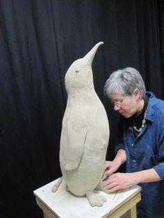 boetseren gestileerd dier avondcursus werk van Cecile Clay Birds, Ceramic Birds, Ceramic Animals, Clay Animals, Ceramic Art, Pottery Sculpture, Bird Sculpture, Animal Sculptures, Pottery Art
