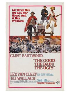 The Good, The Bad and The Ugly, 1966 People Art Print - 30 x 41 cm