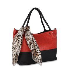 Red #Leopard Prin #Handbag from Calvino