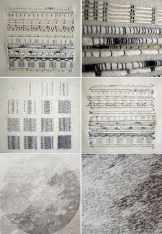 Monochrome embroidery stitch samples; couching; experimental stitching; textile surface design // Roanna Wells