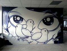 Artist: Jordane Jone, Paris 2014 Graffiti Characters, Fictional Characters, Street Art Graffiti, Hedgehog, Snoopy, Paris, Girls Girls Girls, Montmartre Paris, Hedgehogs