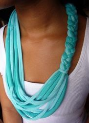 T-Shirt Scarfs! craft, accessori, t shirt scarves, braid, tshirt scarf, necklac, old shirts, tee shirts, t shirts