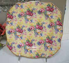 Royal Winton CHINTZ PLATE Welbeck England by WhiteSwanAntiques