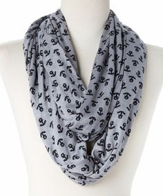 This Gray Anchor Infinity Scarf by Sperry Top-Sider is perfect! #zulilyfinds