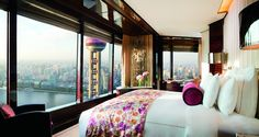 Luxury accommodations await at The Ritz-Carlton Shanghai, Pudong, featuring hotel rooms and suites, fine furnishings and modern amenities. Hotels And Resorts, Best Hotels, Luxury Hotels, Top Hotels, Shanghai Hotels, Photo Room, Beautiful Hotels, Beautiful Places, My Dream Home