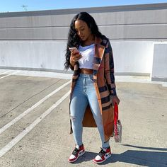 Chill Outfits, Swag Outfits, Dope Outfits, Trendy Outfits, Fashion Outfits, Fashion Tips, Black Girl Fashion, Fashion Looks, Style Fashion