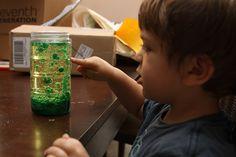 DIY at home toddler lava lamp