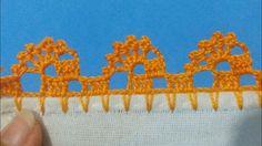 Bico de crochê carreira única #185 Thread Crochet, Filet Crochet, Diy Crochet, Crochet Stitches, Crochet Edging Patterns, Crochet Borders, Crochet Designs, Knitting Projects, Crochet Projects