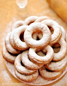 Recipe for Polish Doughnuts - oponki (you will need to transl. This is the real deal)! Easy Cake Recipes, Cookie Recipes, Polish Recipes, Polish Food, Savory Pastry, Russian Recipes, Eat Dessert First, No Bake Cookies, Baking Cookies