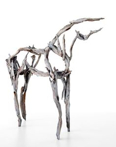 Deborah Butterfield who assembles these striking horse sculptures using tree branches made from bronze