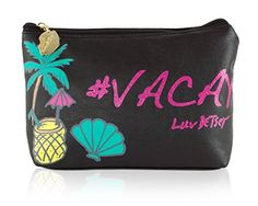 Luv Betsey By Betsey Johnson Vaycay Cosmetic Pouch Case  Black *** You can get more details by clicking on the image. Note:It is Affiliate Link to Amazon.