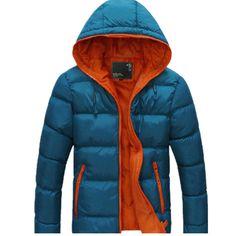 Warm Winter Jacket Men Outerwear Coat Hoodie 2016 Stylish Design Solid Brand Clothing Jackets Mens Parka Zipper Plus Size M-XXXL #Affiliate