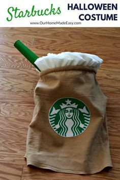 Make your own Starbucks Halloween Costume! This step by step tutorial includes…                                                                                                                                                                                 More