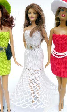 Elegantes langes Kleid einfach selber häkeln!                              …