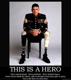 "Real Heroes  So true!  I'm tired of false heroes and ""role-models"". Reality (right) tv.  Kardashians and all the other idiots I never hear the end of. Are we really that afraid of facing real life head to head in this society that we must divert ourselves with false beauty and fame?  Scary."