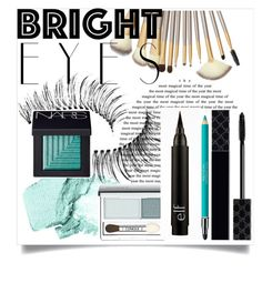 """""""POP-UP BLUE"""" by aditi-singh-23 ❤ liked on Polyvore featuring beauty, NARS Cosmetics, Trish McEvoy, Gucci, Revlon, Clinique and brighteyes"""