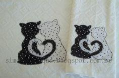 Cat Applique, Applique Patterns, Applique Quilts, Applique Designs, Patch Quilt, Applique Tutorial, Frantic Stamper, Sewing Appliques, Penny Rugs