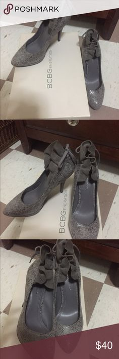 Sexy grey pumps Really classy and sexy pumps. Beyond comfy‼️price negotiable ‼️‼️ BCBG Shoes