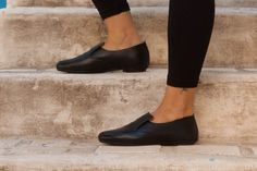 Anya, Leather Ballerina Shoes, Leather flats, Flat Shoes, Women's Shoes, Winter Shoes, Autoumn , Free Shipping by BangiShop on Etsy https://www.etsy.com/listing/252256101/anya-leather-ballerina-shoes-leather