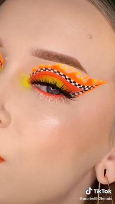 Crazy Eye Makeup, Makeup Eye Looks, Creative Makeup Looks, Eye Makeup Art, Colorful Eye Makeup, Beautiful Eye Makeup, Glam Makeup, Pretty Makeup, Eyeshadow Makeup