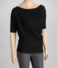 Take a look at this Black Boatneck Top by TART Collections on #zulily today! $29.99