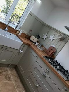 Fetching Kitchen with island cooktop kitchen remodel cost ideas and Small kitchen renovation before and after. Cottage Kitchens, Grey Kitchens, Cool Kitchens, Small Cottage Kitchen, Narrow Kitchen, Home Decor Kitchen, Kitchen Interior, New Kitchen, Kitchen Grey