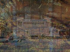 "Saatchi Online Artist vincent messelier; Mixed Media, ""rome by night"" #art"