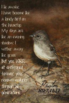 Psalm 102:7, 11-12