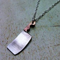Fancy - Mini Meat Cleaver Necklace by Arrok