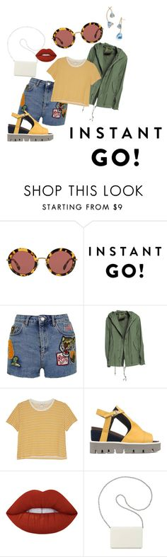 """Shades of You: Sunglass Hut Contest Entry"" by gmashx ❤ liked on Polyvore featuring Miu Miu, Topshop, Mr & Mrs Italy, Monki, Strategia, Lime Crime, Nine West, Tory Burch and shadesofyou"