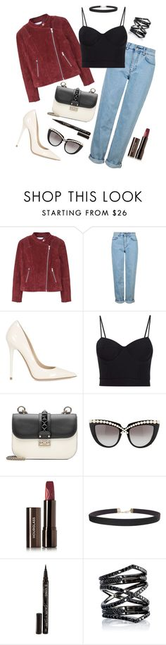 """Chic Street Fusion: Bold"" by ravenclaw-phoenix on Polyvore featuring MANGO, Topshop, Jimmy Choo, Alexander Wang, Valentino, Anna-Karin Karlsson, Hourglass Cosmetics, Humble Chic, Smith & Cult and Eva Fehren"