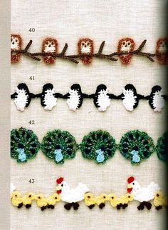 If you looking for a great border for either your crochet or knitting project, check this interesting pattern out. When you see the tutorial you will see that you will use both the knitting needle and crochet hook to work on the the wavy border. Crochet Boarders, Crochet Motifs, Crochet Trim, Knit Or Crochet, Crochet Crafts, Easy Crochet, Crochet Stitches, Crochet Projects, Crochet Appliques
