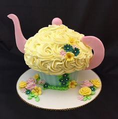 Teapot giant cupcake cake. By Sandy Campbell.