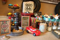Vintage Cars Radiator Springs Birthday Party