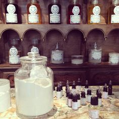 Goal: make bathroom look like fin-de-siecle Parisian pharmacy. Buly Paris