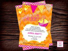 BIRTHDAY CUPCAKE INVITATION Modern Cupcake by BlissfulBethDesigns