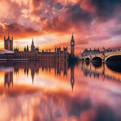 A dusk palette in London.