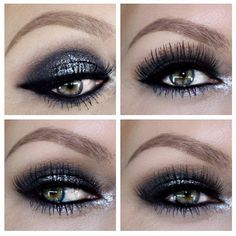 Use Lumière Eyeshadow in Black Onyx & Shiny Effects in Silver for this eyecatching makeup :) MUA: Carina Nilsson.