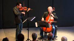 En este video podrán escucharse las 2 voces por separado, la primera voz en el violín y la segunda en el violoncello. Se puede apreciar mejor el contrapunto utilizado por Bach en sus obras para un mejor análisis