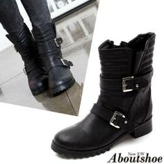 Buy 'ABOUTSHOE – Buckled Ankle Boots' with Free International Shipping at YesStyle.com. Browse and shop for thousands of Asian fashion items from South Korea and more!