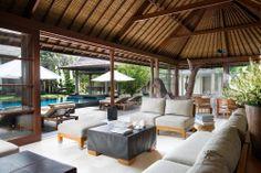 Living area at Villa Ramadewa, Seminyak, Bali http://www.prestigebalivillas.com/bali_villas/villa_ramadewa/19/map/