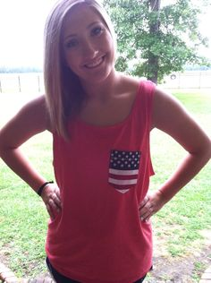 American Flag Tank by CustomizedPocketTees on Etsy, $15.00