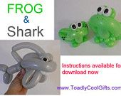 Frog and Shark Balloon Instructions
