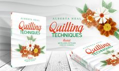 All styles in one book ... #Quilling Techniques. http://albertaneal.com/portfolio/quilling-techniques/