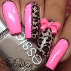 nails, pink, and fashion afbeelding Great Nails, Fabulous Nails, Gorgeous Nails, Love Nails, Pink Nails, My Nails, Salon Nails, French Nails Glitter, Bling Bling