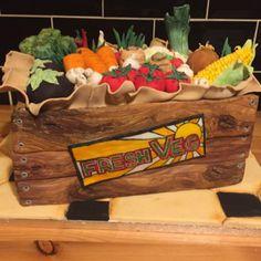 Veg vegetable box novelty cake