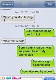 Why'd you stop texting? LMAO!