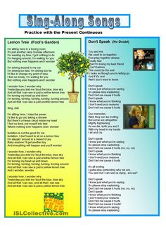 5 Sing-Along Songs in Present Continuous
