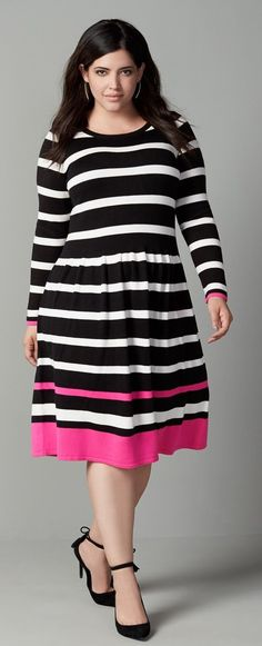 Plus Size Stripe A-L