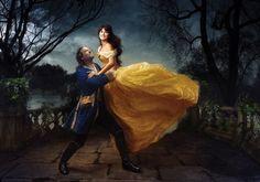 Top 20 des photos de princesses Disney pour de vrai, par Annie Leibovitz Penelope Cruz & Jeff Bridges, Belle et la Bete